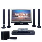 "LG 37LF65 37"" HD Ready 1080P Digital LCD TV and Dvd Home Cinema System"
