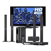 Panasonic Viera TH42PZ70B Plasma HD Ready Digital Television, 42 inch and Dvd Home Cinema System