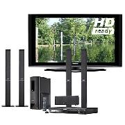 Panasonic Viera TH50PZ70B Plasma HD Ready Digital Television, 50 inch and Dvd Home Cinema System