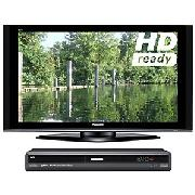 Panasonic Viera TH50PZ70B Plasma HD Ready Digital Television, 50 inch and Dvd Recorder/ Digital Box