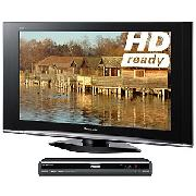 Panasonic Viera TX37LZD70 LCD HD Ready Digital Television, 37 inch and Dvd/HDd Recorder