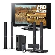 Panasonic Viera TX37LZD70 LCD HD Ready Digital Television, 37 inch and Dvd Home Cinema System