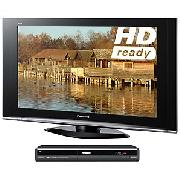 Panasonic Viera TX37LZD70 LCD HD Ready Digital Television, 37 inch and Dvd Recorder/ Digital Box